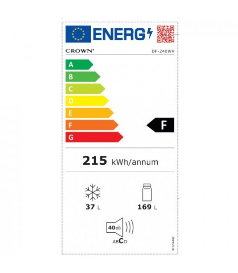 Eticheta energetica Crown DF-240WH