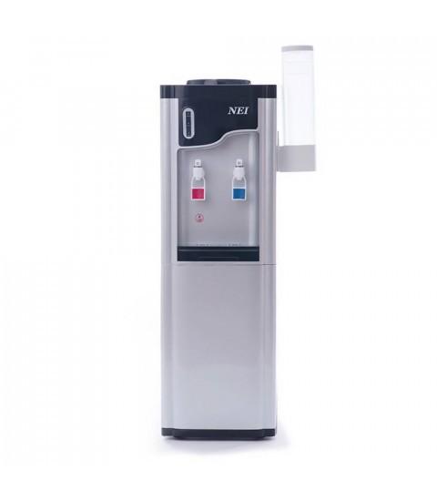 Dozator apa de podea NEI HSM-61LB, cu compresor, silver-black, suport pahare