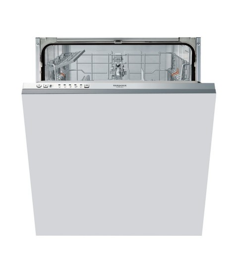 Masina de spalat vase incorporabila Hotpoint Ariston HI 3010, 13 seturi, 5 programe, Clasa F, Argintie