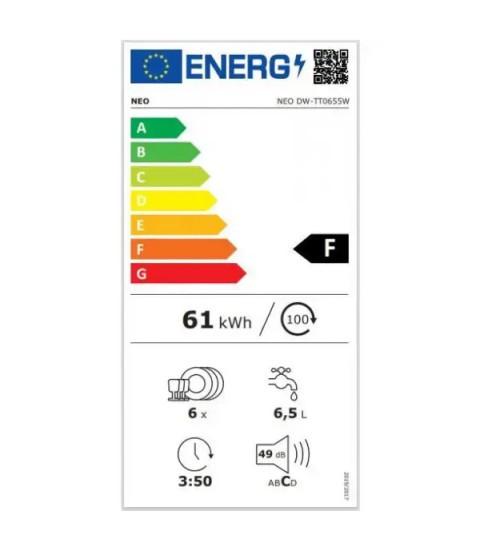 Eticheta energetica Masina de spalat vase compacta NEO DW-TT0655W