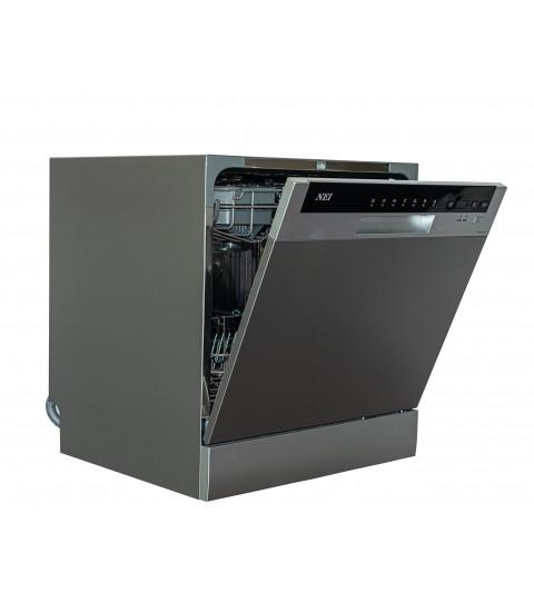 Masina spalat vase compacta NEI NDW8S-3802FS, A+, silver