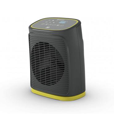 Aeroterma electrica cu ventilator Olimpia Splendid Caldo Rock DT, 24mp, 1000/2000W, termostat, gri inchis/galben