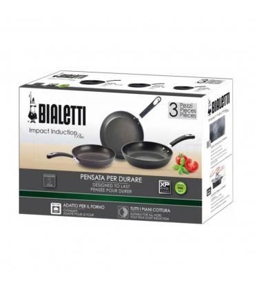 Set Tigai Bialetti Impact Inductie Plus 3 piese 20-24-28 cm