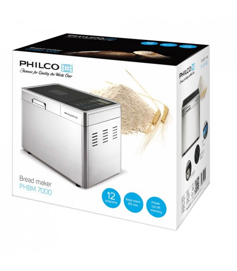 Masina de facut paine Philco PHBM 7000, 615 W, 700-1000 g, 12 programe