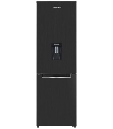 Frigider cu doua usi Finlux FBN-300DIX / Dark,284 l Full No Frost, clasa F, Dozator apa, H 185 cm, Dark Inox