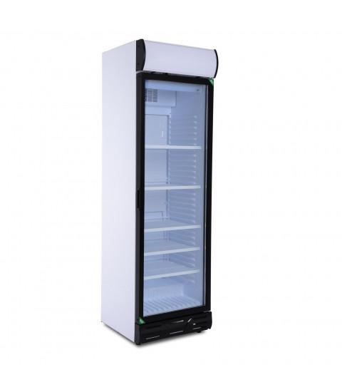 Vitrina frigorifica Crown D 372, 365 l, ventilata, control mecanic, H 201 cm, Alb