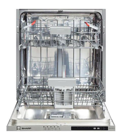 Masina de spalat vase incorporabila SHARP QW-D21I492X, 12 seturi de vase, 5 programe, A++