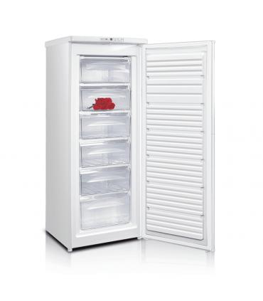 Congelator vertical Crown CVF-21 / CFV-21,163 l,6 sertare, Clasa A+,H 143 cm,alb,Control electronic