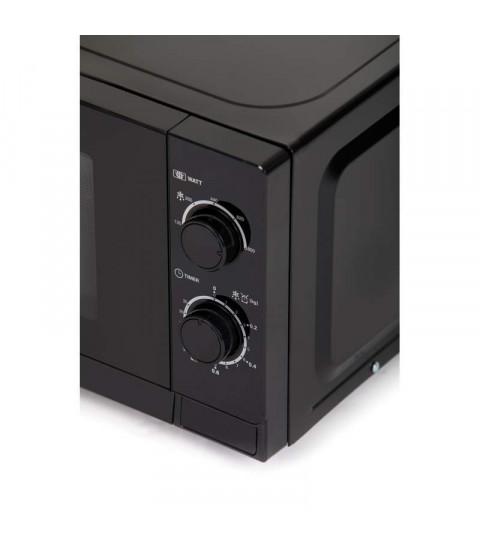 Cuptor cu microunde Sharp R200BKW, 20 l, 800 W, Mecanic, Negru