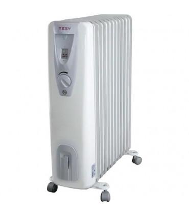 Calorifer electric TESY CB 2512 E01 R, 2500 W, 12 elementi, 3 trepte de putere, Termostat de siguranta.Gri