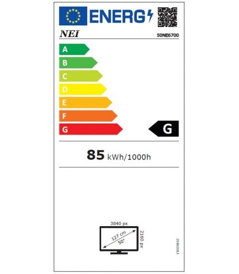 Televizor NEI 50NE6700, 126cm, Smart, 4K Ultra HD, LED