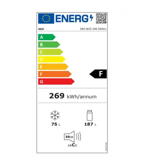 Eticheta energetica NEO BCD-296 DSSA +