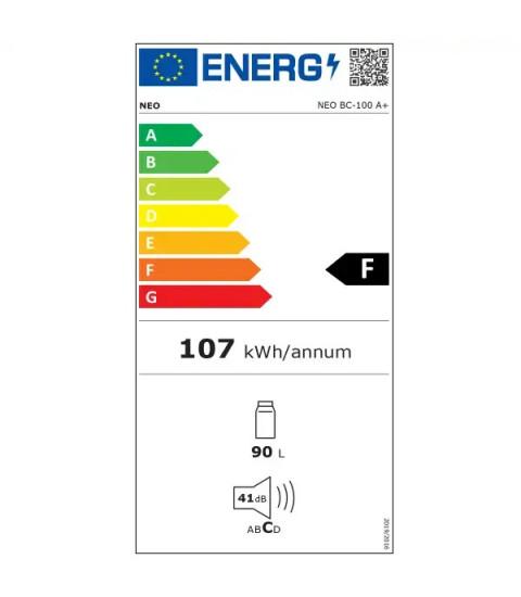 Frigider minibar NEO BC-100A +, Clasa energetica F, Volumul 92 l, H 83 cm, Alb