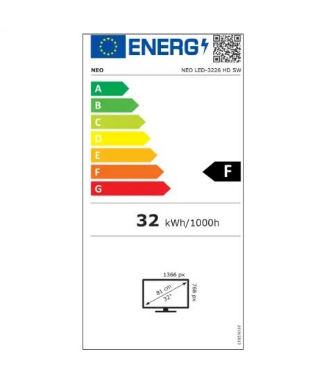 Televizor NEO LED-3226 SMART LED TV,81 cm, HD, Clasa F,Negru