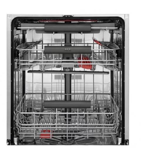 Masina de spalat vase AEG AirDry FFB62700PM, 15 Seturi, 6 Programe, Clasa E, 60 cm, inox