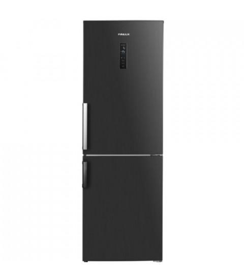 Combina frigorifica Finlux FBND-315HIX, 323 l, Clasa F, No Frost, H 185 cm, Inox