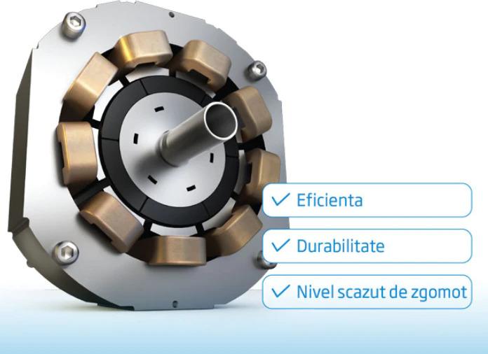Frigider cu doua usi NEO BCG-261 DSA+, Clasa A+, 204 l, dozator apa,H 143 cm,Silver