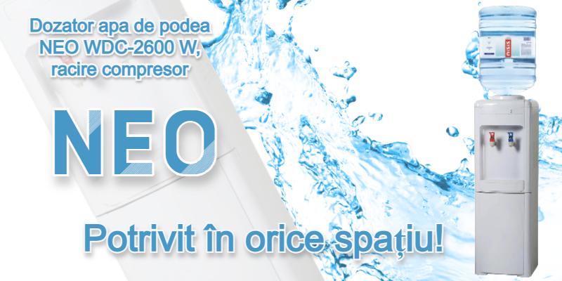 Dozator de apa NEO WDC-2601S, Racire compresor, Gri